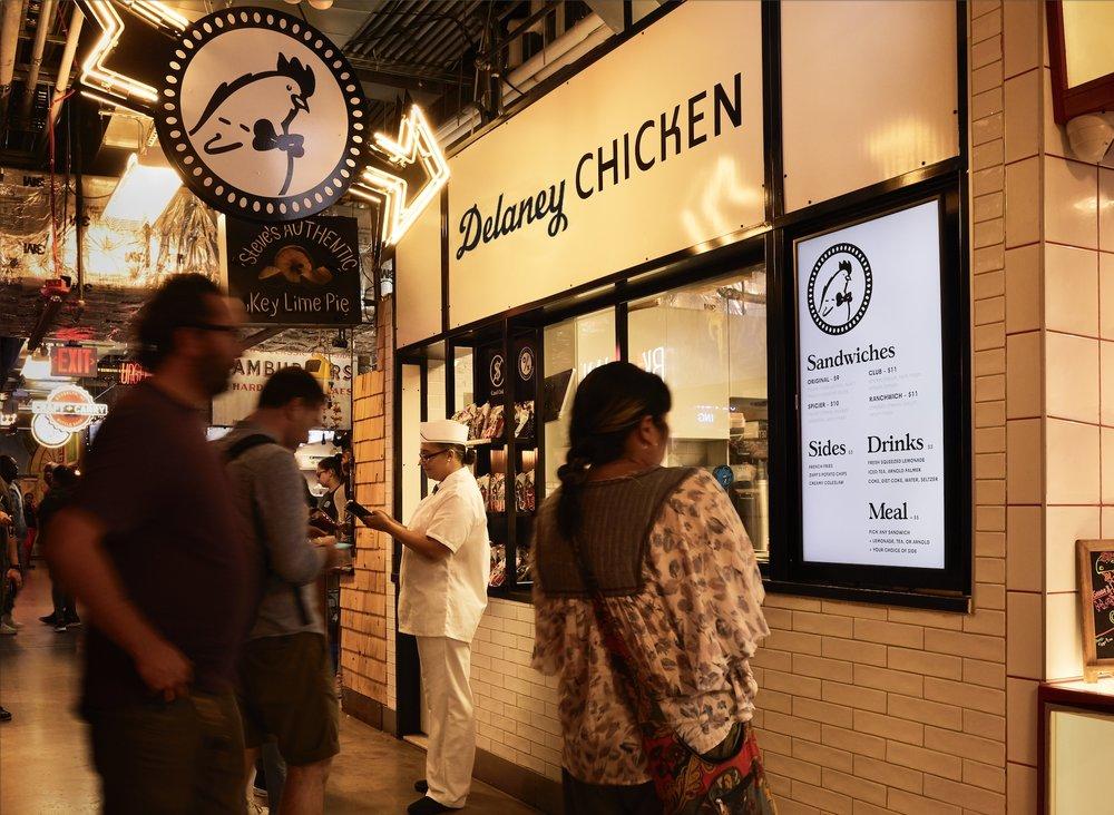 Delaney Chicken DeKalb Market Hall Brooklyn, NY 2018 – 2019