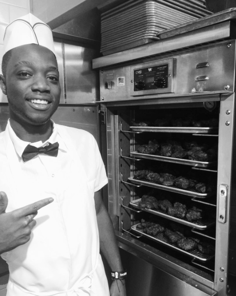 Delaney Chicken team members wore all white uniforms with black bowties, echoing the 1930's diners.