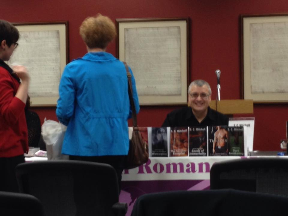 S.C. Mitchell at book signing
