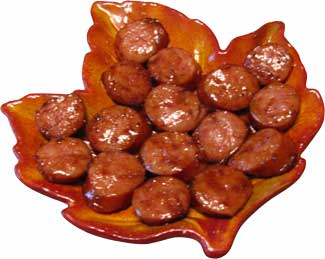 Maple Kielbasa appetizer...image by Ben's Sugar Shack
