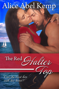 The Red Halter Top by Alice Abel Kemp on Sophia Kimble