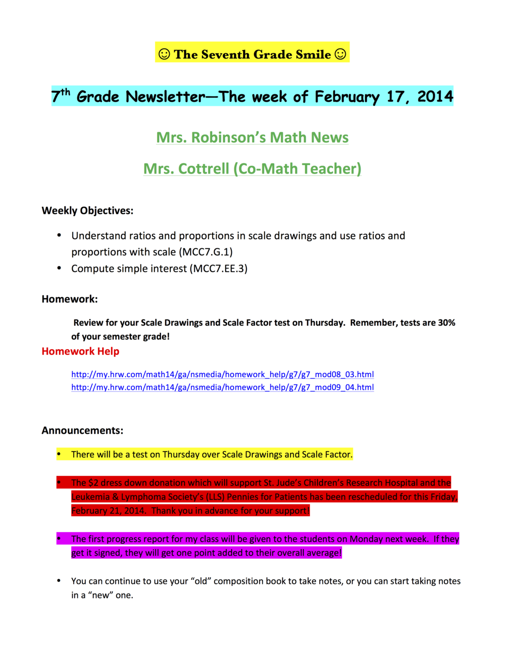 7th Newsletter for Monday, February 17, 2014A.png