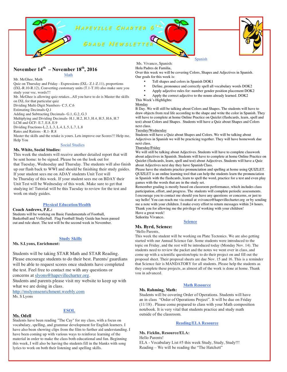 Newsletter Image6th Grade Newsletter 11-14-2016.jpeg