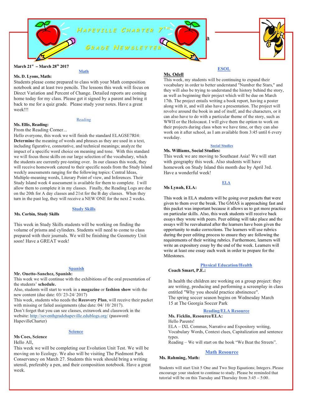 Newsletter Image7th Grade Newsletter 3-21-2017 .jpeg