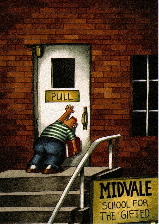 With all due respect to the great Gary Larson.