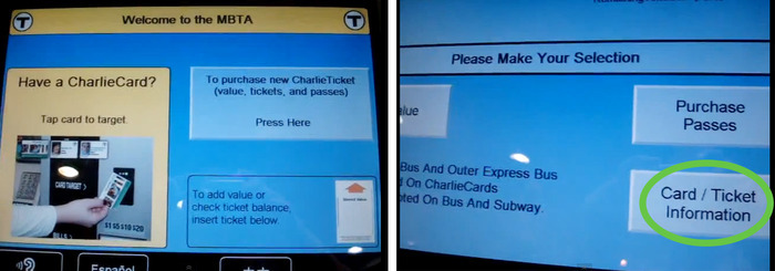 Tap your ring at the top up station and go to Card / Ticket information