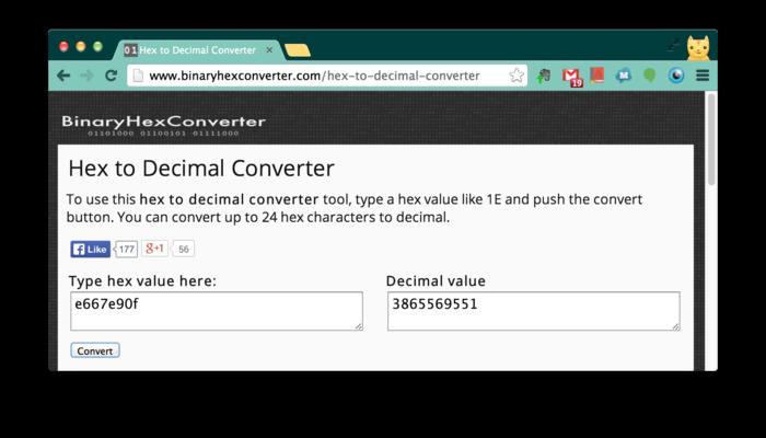 http://www.binaryhexconverter.com/hex-to-decimal-converter