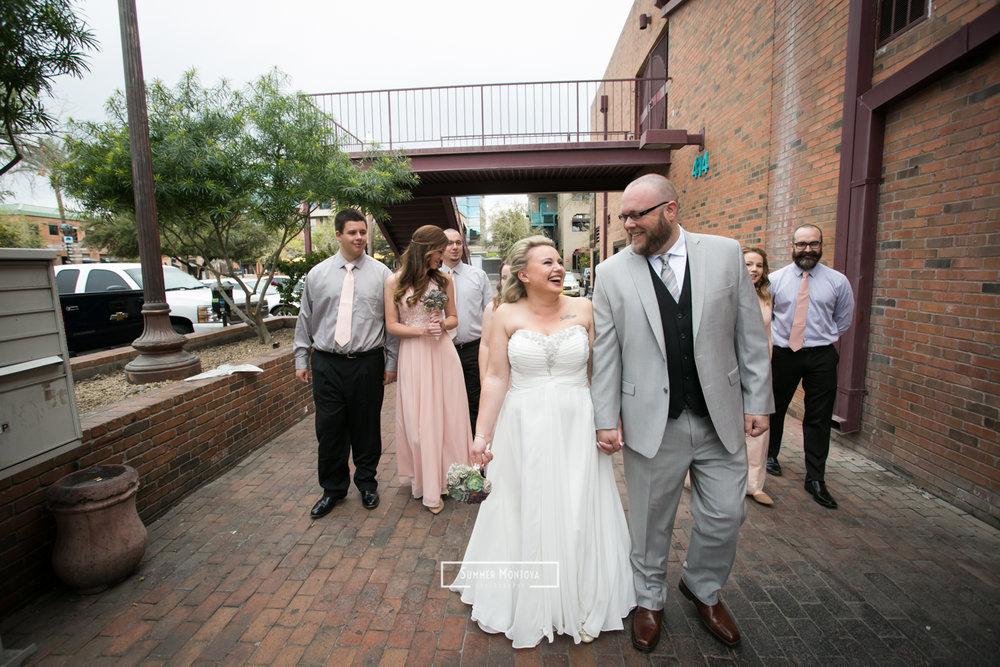 Wedding at the Hackett house in Tempe, Arizona