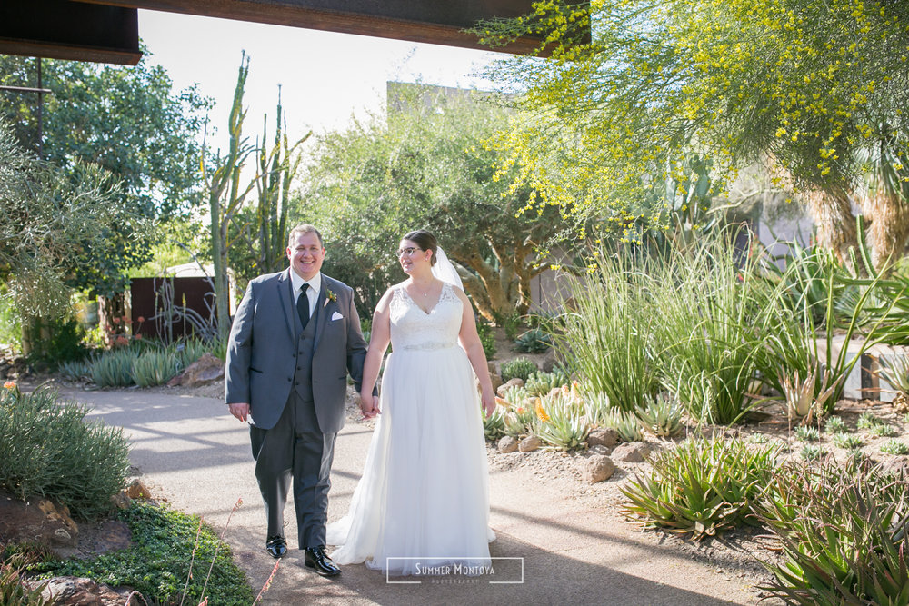 Phoenix wedding at the Desert Botanical Gardens