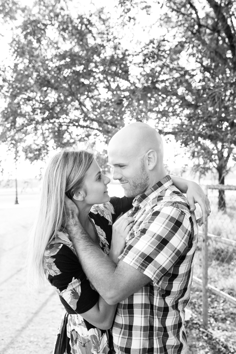 Gilbert couple photos in cornfield.