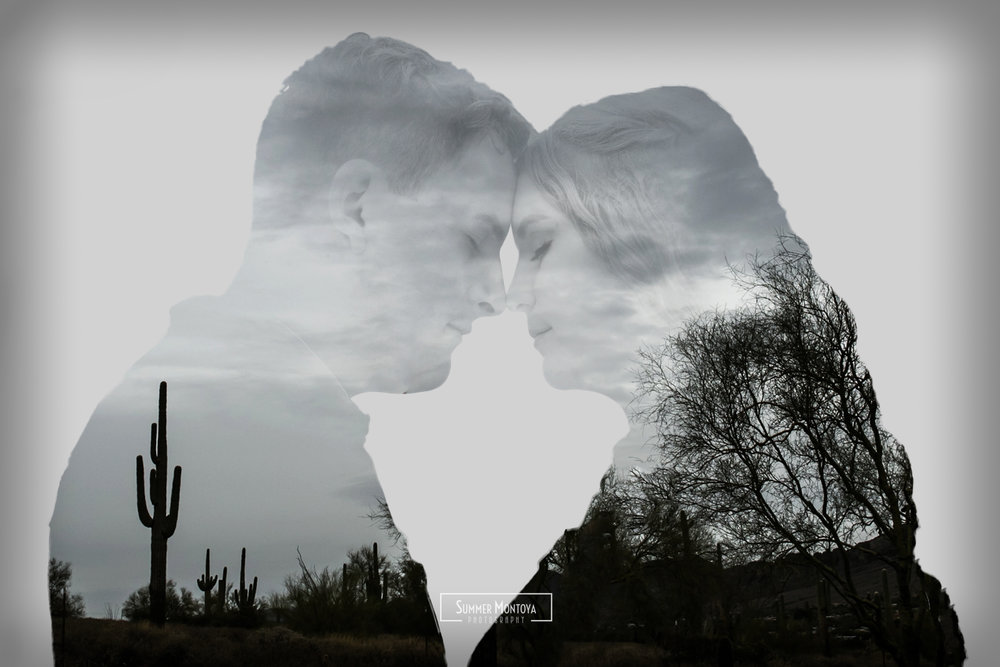 double-exposure-desert-engagment