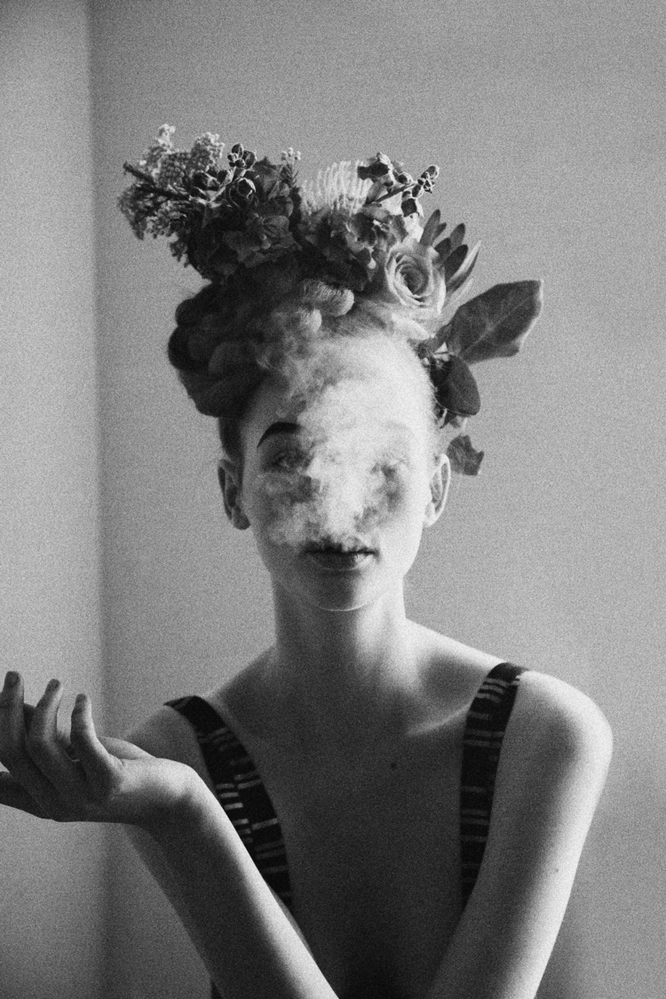 """WOMAN WITH SMOKE"" 2012"
