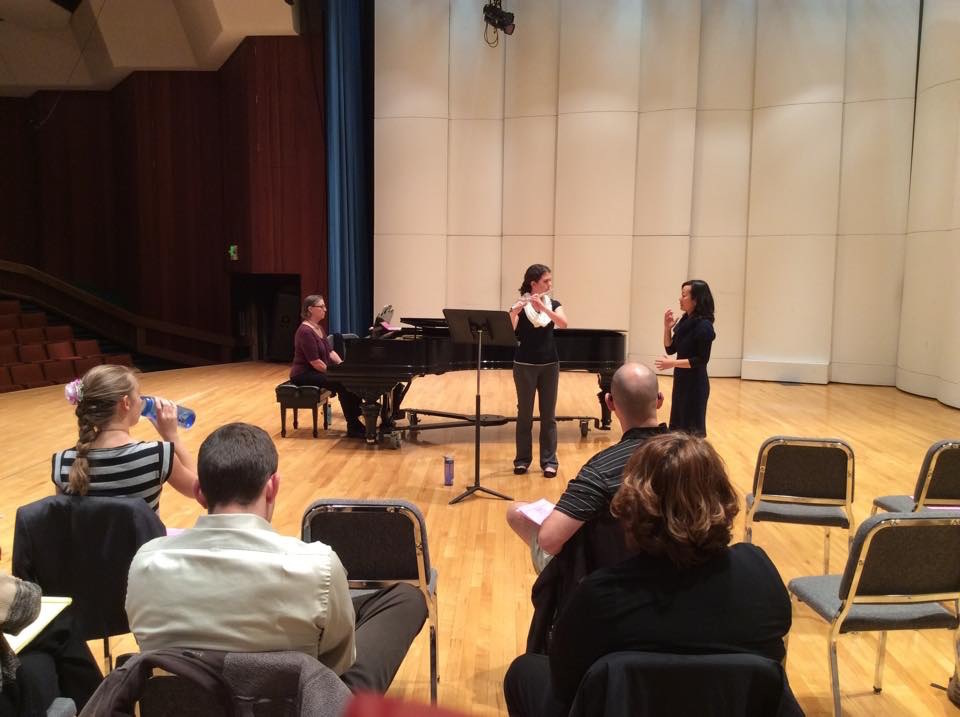 Photo by Prof. Mary Miller, University of Nevada, Reno (Masterclass with her students.)