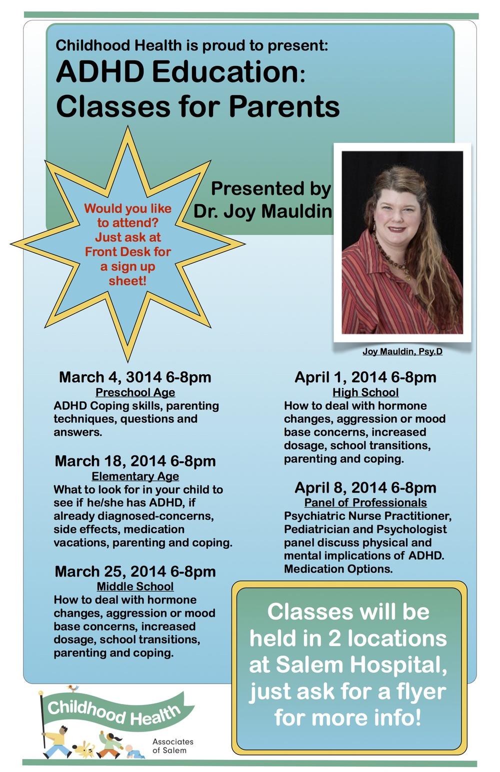 ADHD Poster announcing Classes At Salem Hospital.jpg