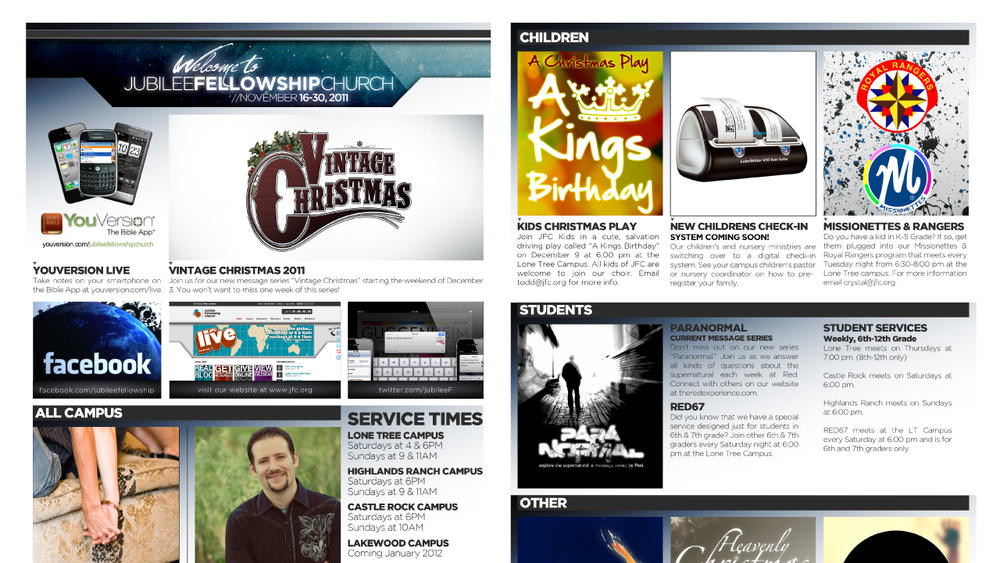 Legal Size Newsletter Template — Vintage Church Resources