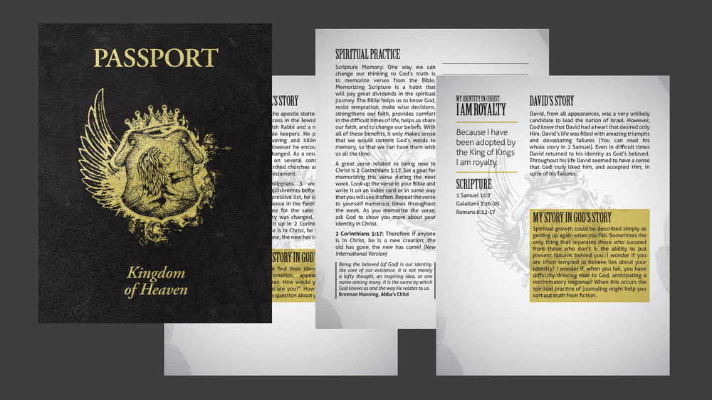 Passport Booklet Template  Vintage Church Resources