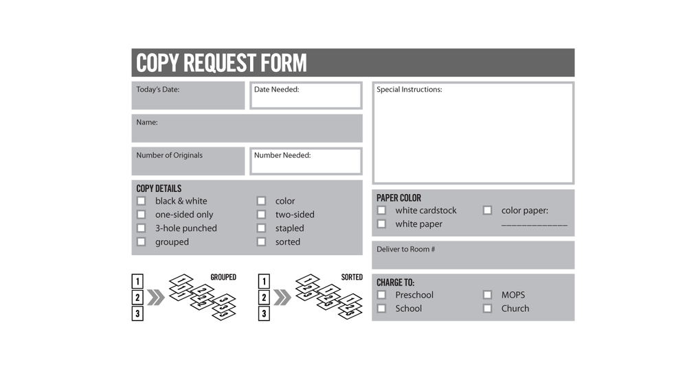Copy Request Form Vintage Church Resources