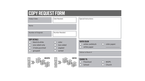 Copy Request Form — Vintage Church Resources