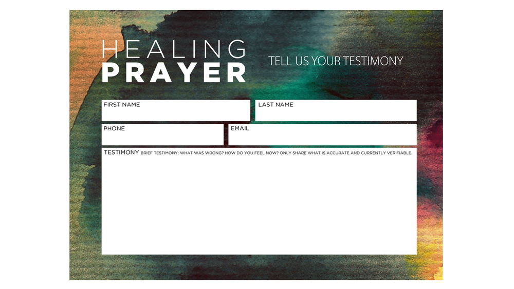 Prayer Card Template