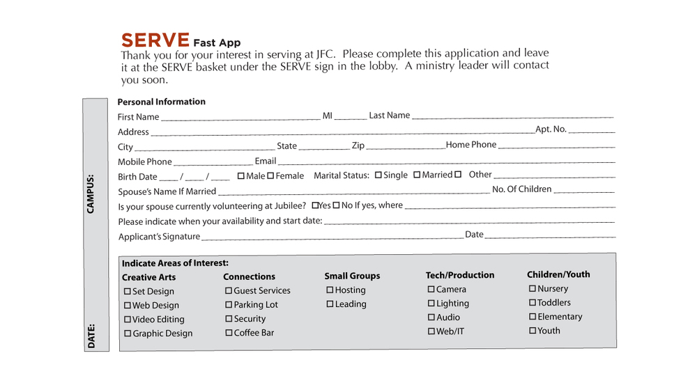 Serve Card Fast App