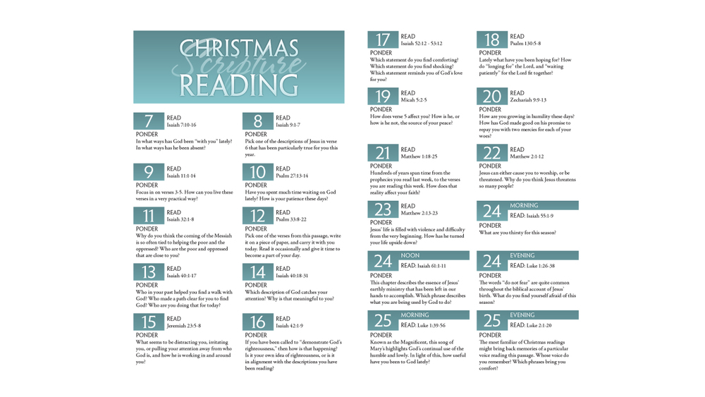 Christmas Reading Plan Template