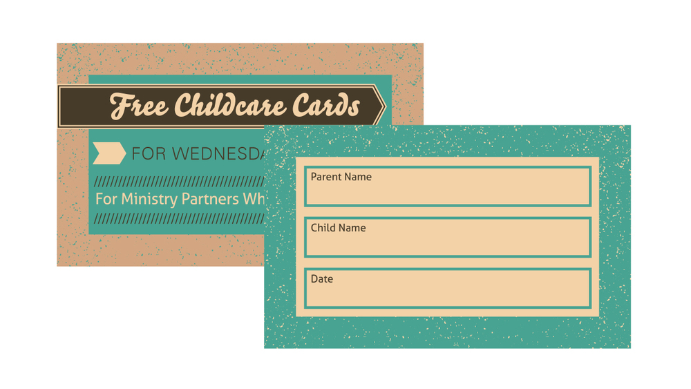 Childcare Card Template