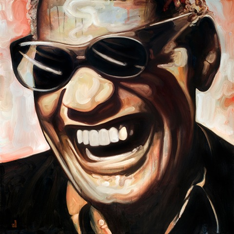 Ray Charles  by Scott Laumann   scottlaumann.com