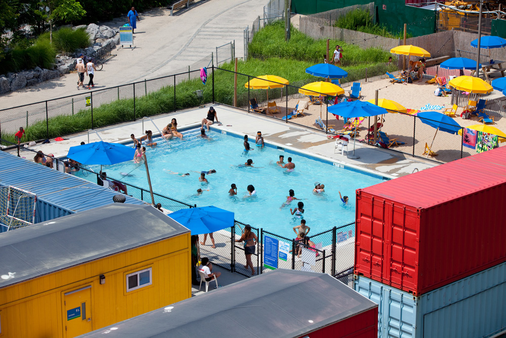 Pop-Up Pool, Brooklyn Bridge Park, Brooklyn NY