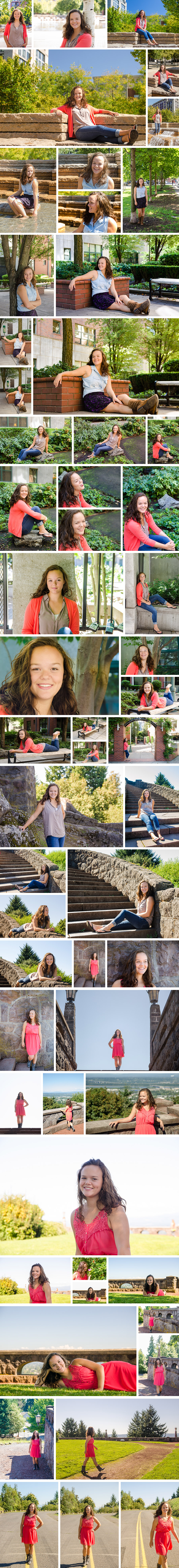 Lizzy Culbertson - Senior shoot collage of photos.