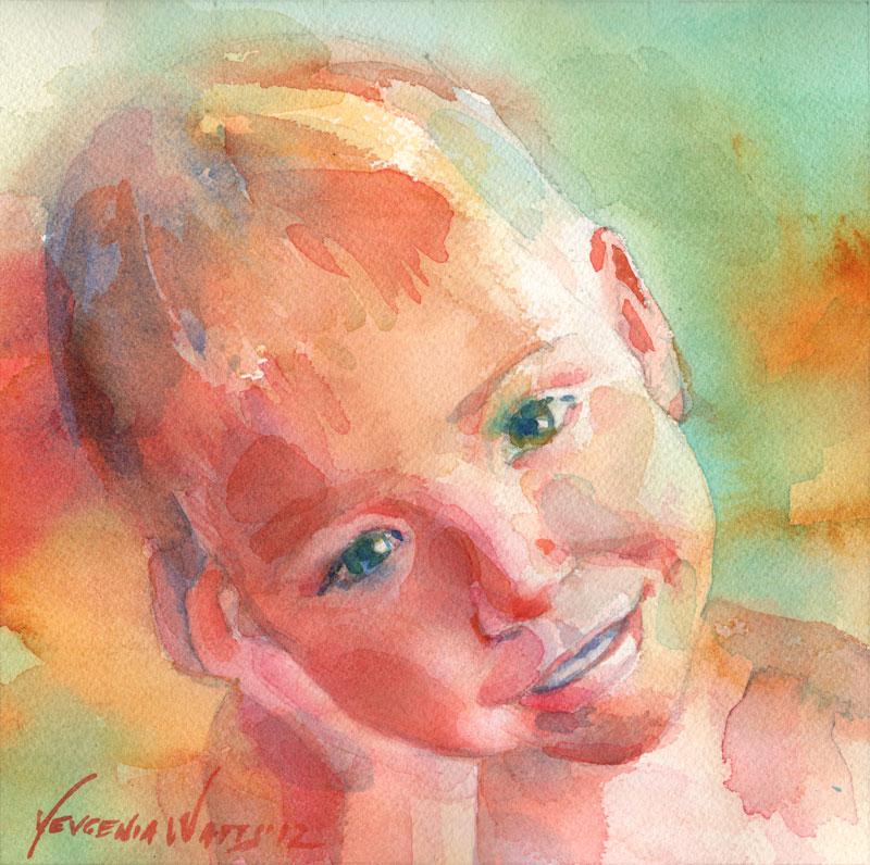 child portrait painting