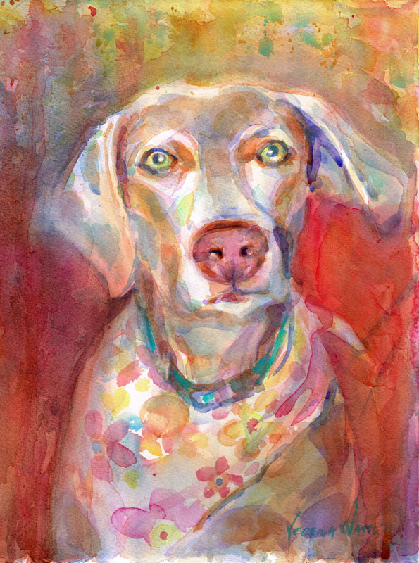 dog portrait watercolor