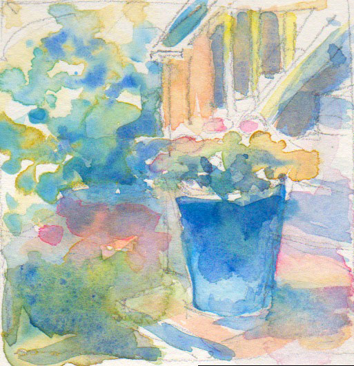 blue pot preliminary sketch 2