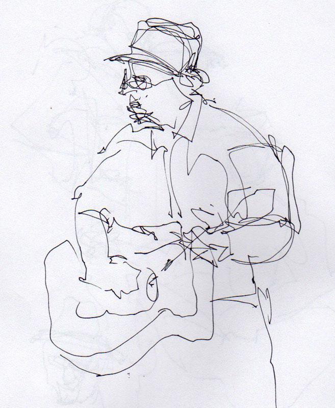 guitarist sketch
