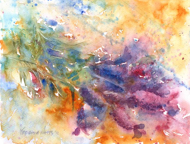 Original painting for sale watercolor Mother's Day Lavender