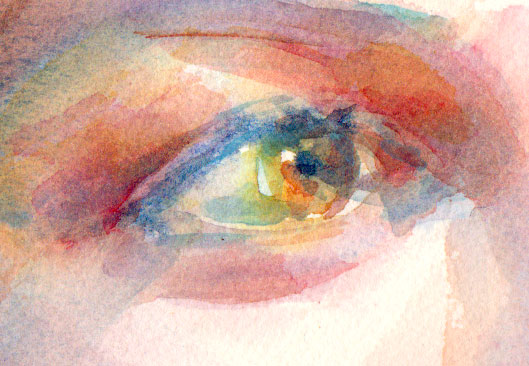 eye watercolor colorful detail painting