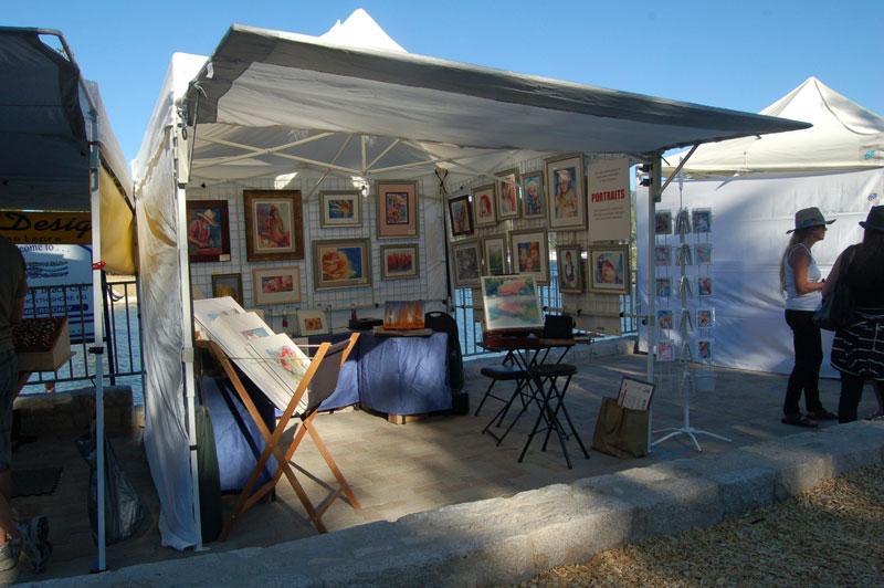 artist booth setup