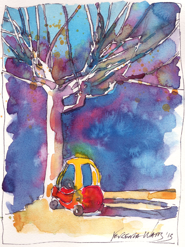 little tikes car outdoor toy childhood art painting sketch tree