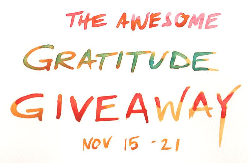 gratitude giveaway artist blog