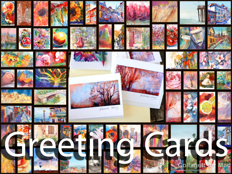 greeting cards collage