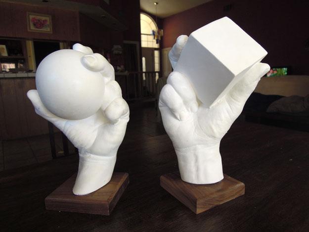 plaster hand models