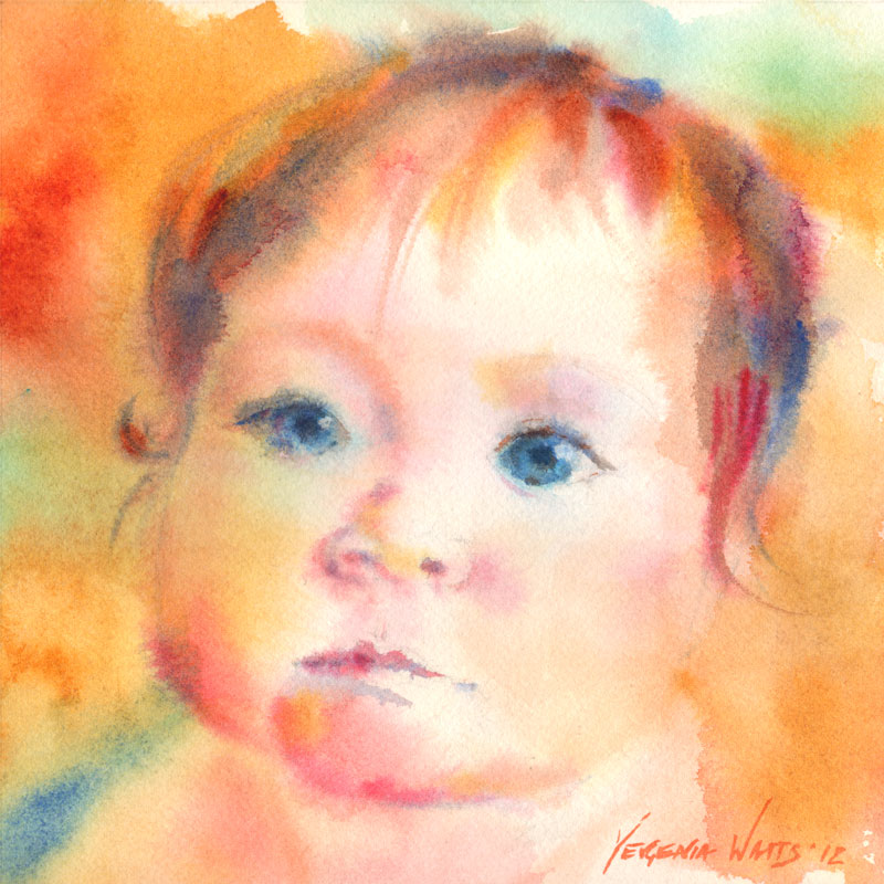 wet into wet watercolor portrait study step by step art by