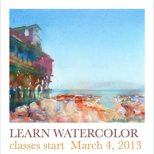 Learn Watercolor Flyer