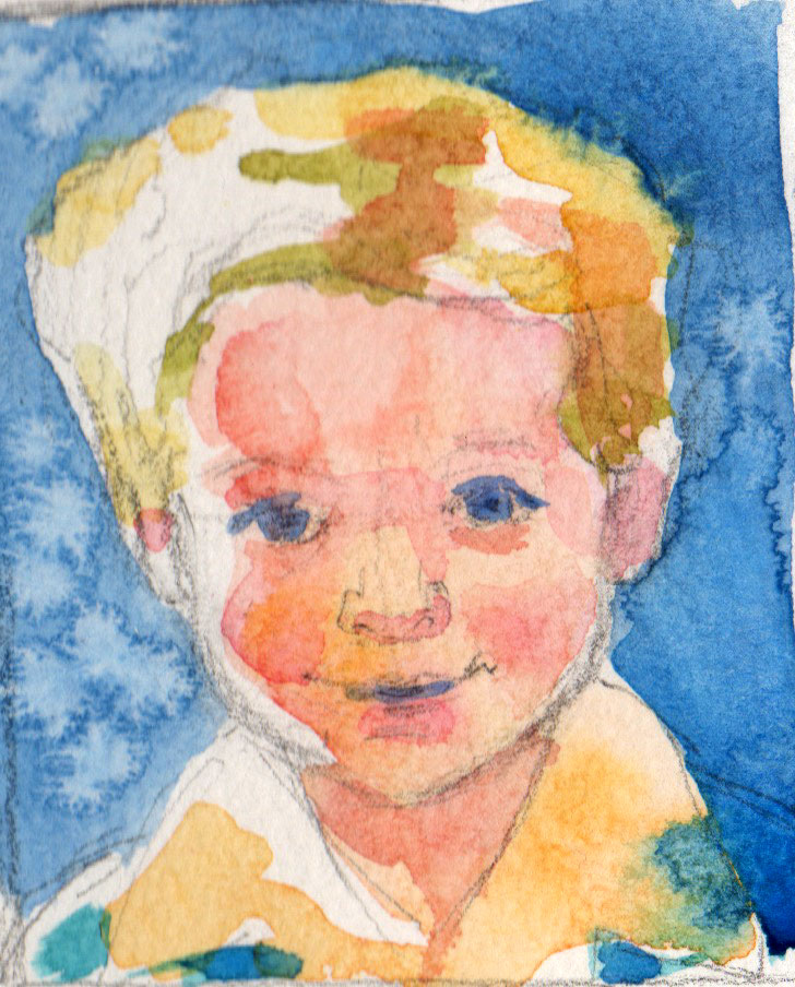 thumbnail sketch child portrait