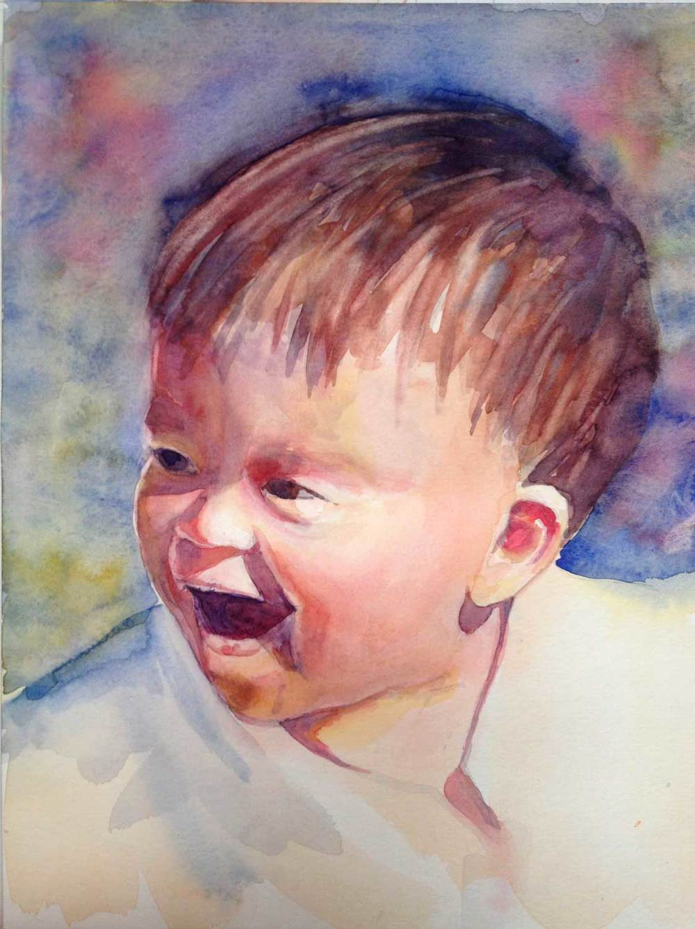 Vicki's painting of her grandson