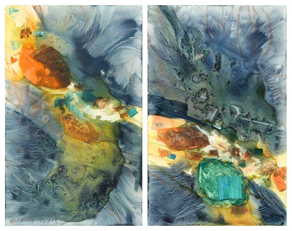 Tide Pool paintings side by side.