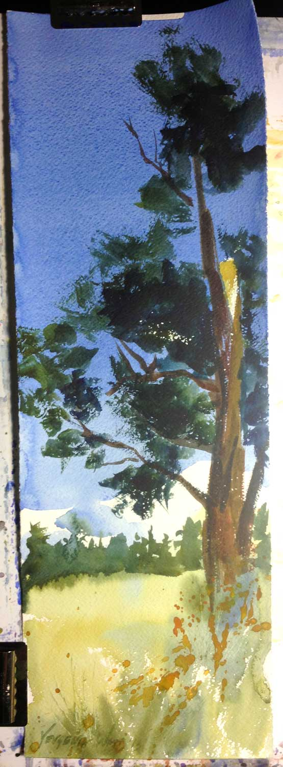 "22x7.5"" watercolor on Fabriano Artistico rough watercolor paper."
