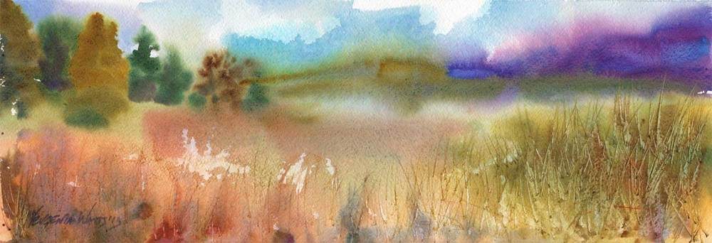 "Watercolor on Fabriano Artistico rough 140lb paper. 7.5 x 22"". Buy prints here"