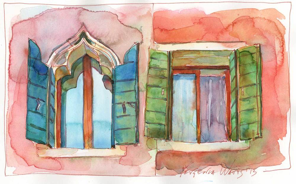 "6.5 x 10"" ink and watercolor on hot press paper. Special price of $75 until Februrary 1."