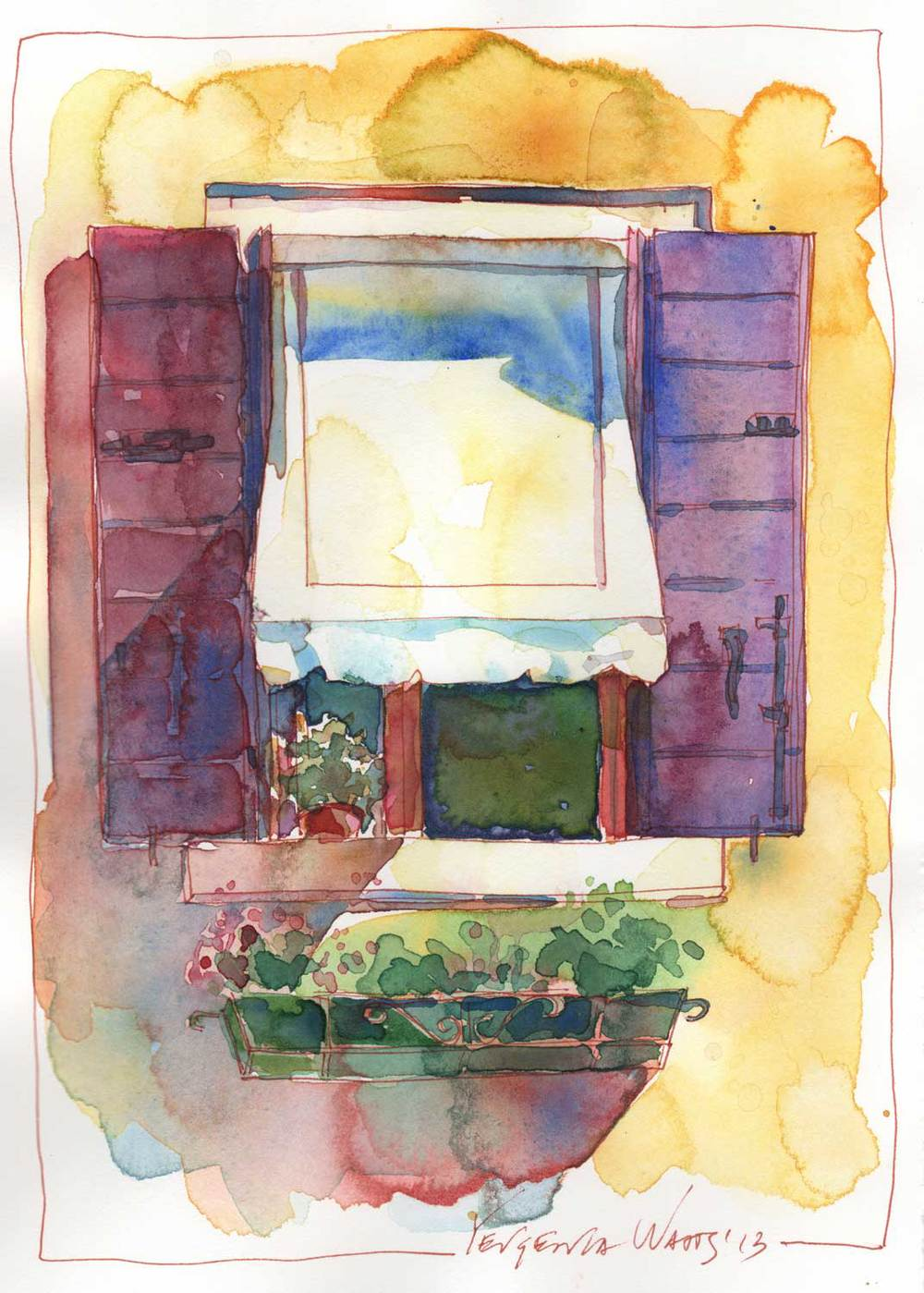 Italian Window 4 Art By Yevgenia Watts