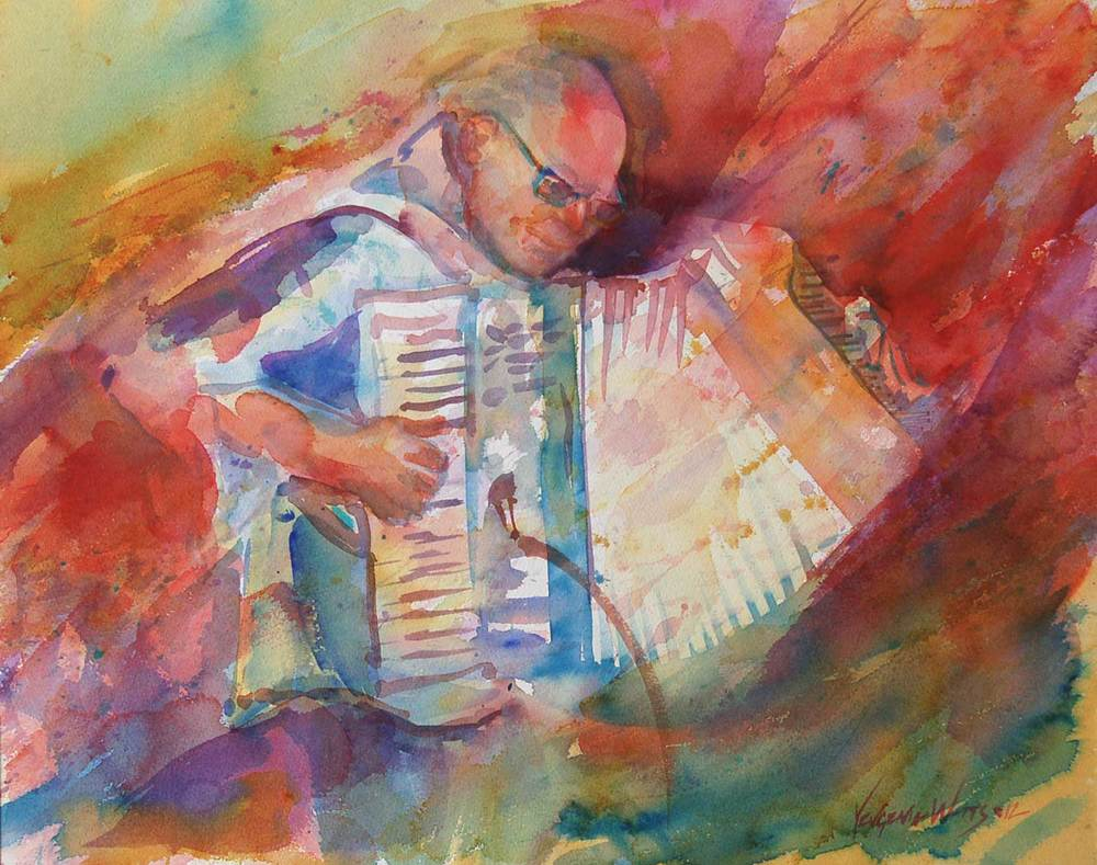"""""""Steve"""" - 16x20"""" Watercolor on Arches watercolor board. Sold."""